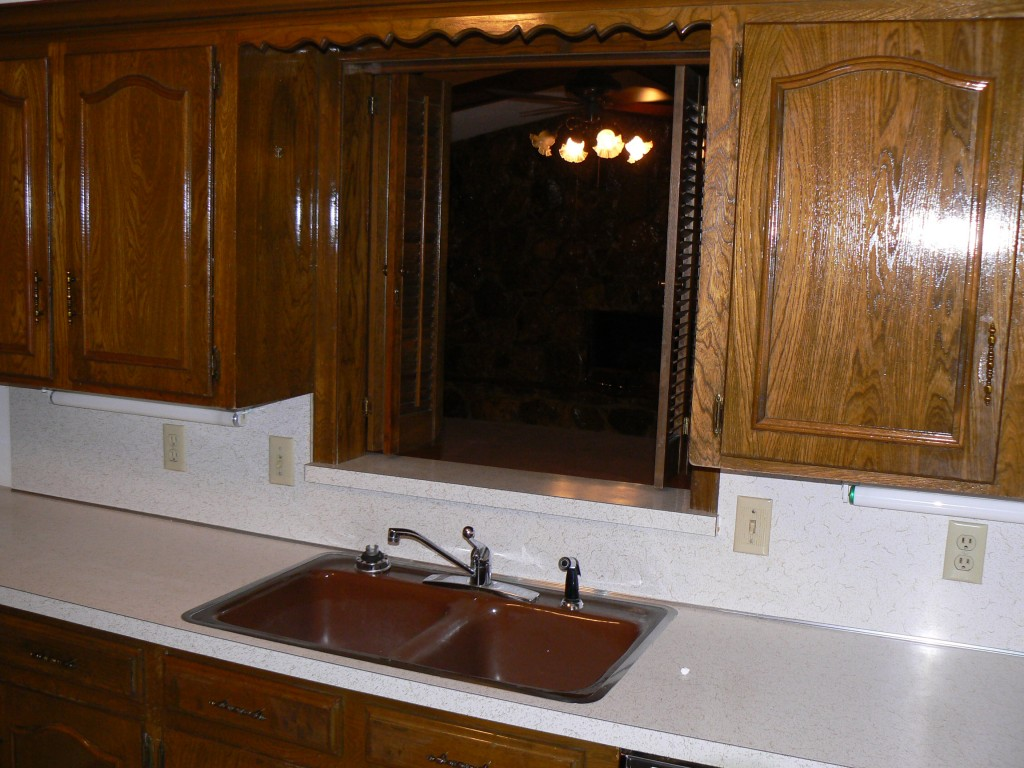 kitchen - into den - before