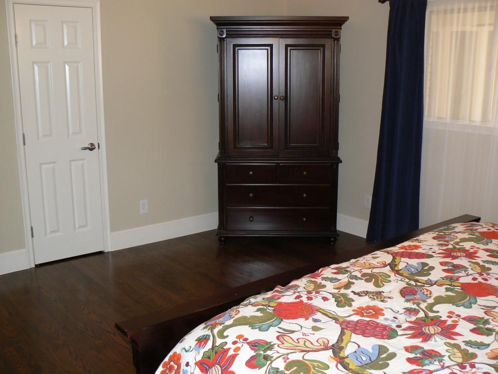 master bedroom - towards closet - after