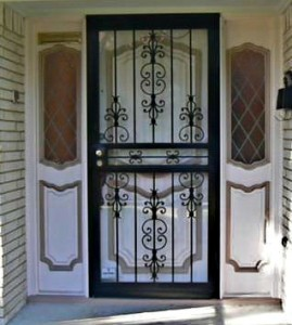 before - our front door