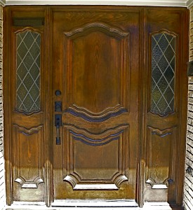 our refinished and restained front door