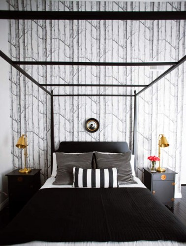 Designing with wallpaper for Tree wallpaper bedroom