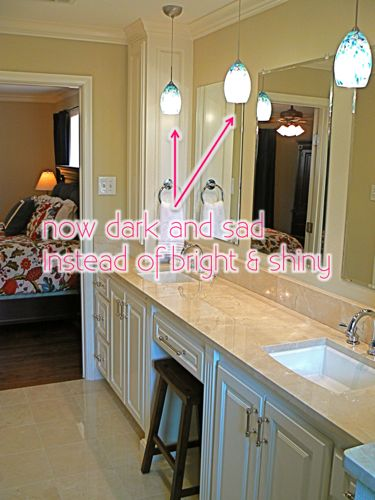 Pendant Lights Bathroom bathroom pendant lighting.replace recessed light with a pendant