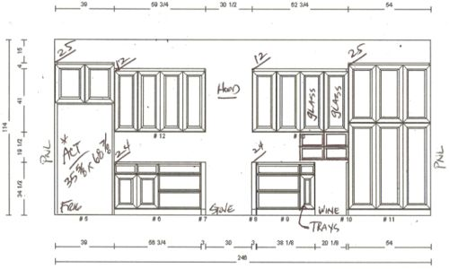 The flip kitchen cabinetry it 39 s great to be home for Kitchen cabinets elevation